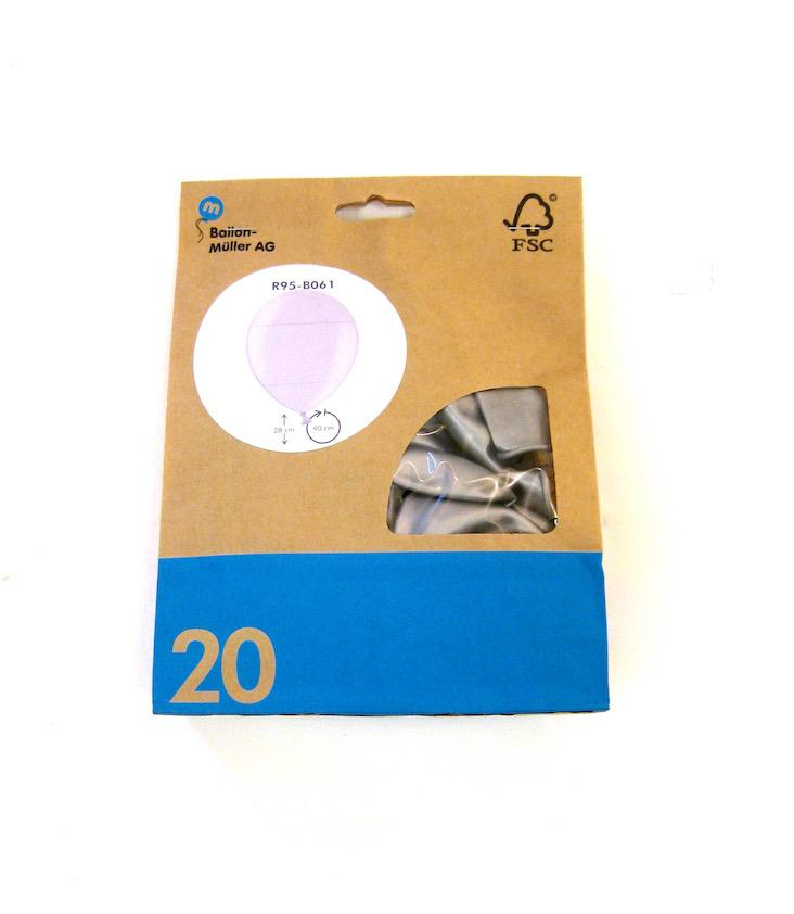 20er Pack Ballone Metallic
