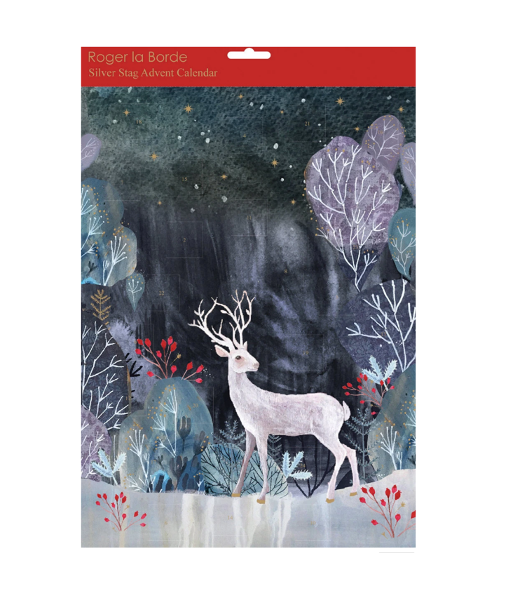 Advent Calendar Silver Stag