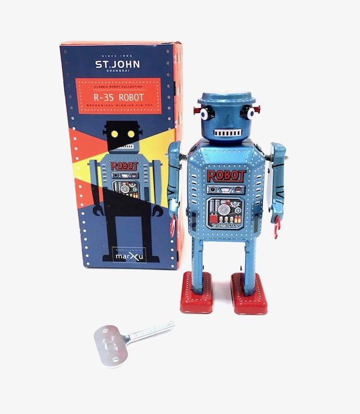 Mechanical Wind-Up Tin Toy R-35