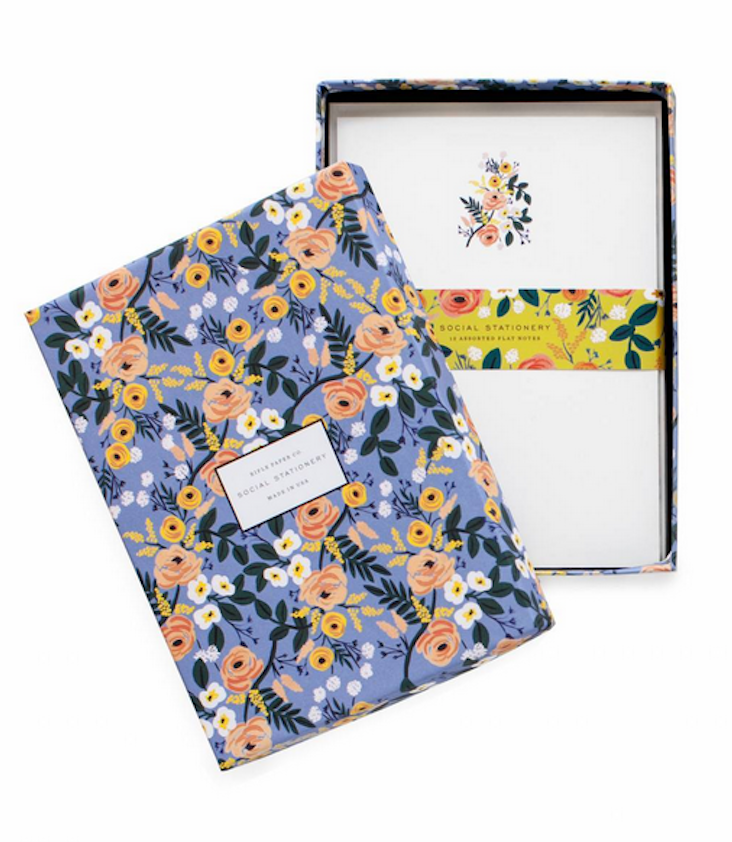 Briefpapier Set Blumen