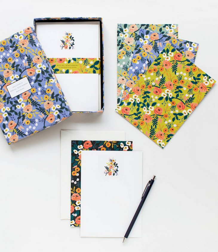 Stationery Set Flowers - 1