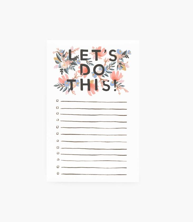 Checklist Notepad Flowers