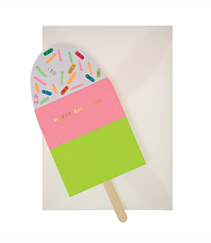 Neon Popsicle Card