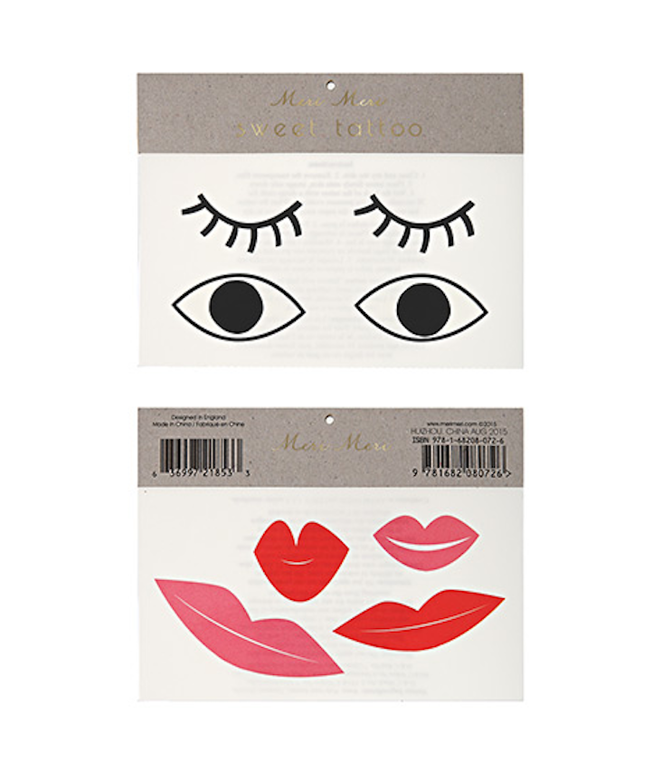 Eyes + Lips Tattoo