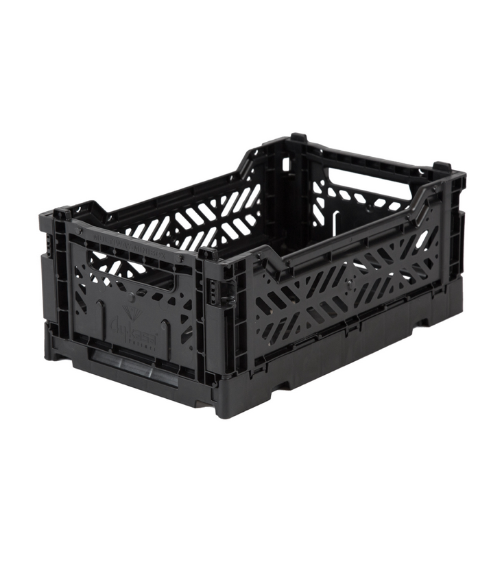 Folding crate small Black