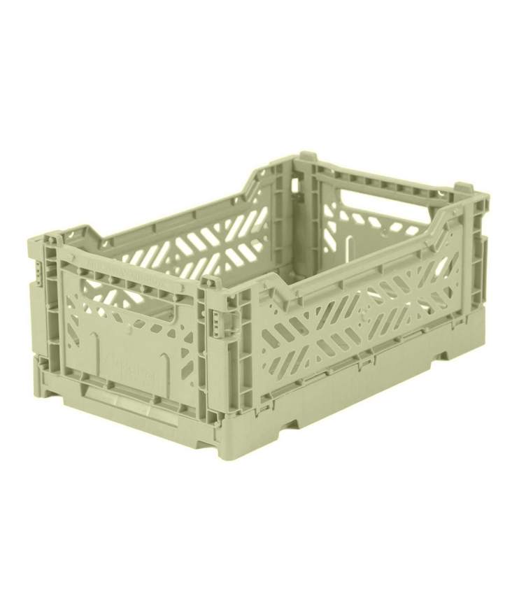 Folding crate small Lime Cream