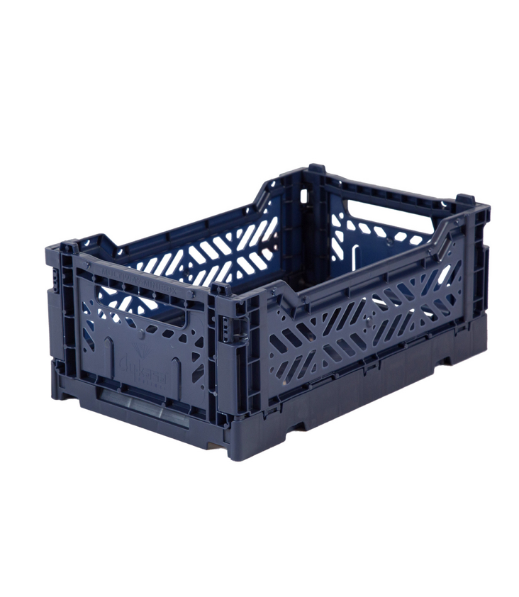 Folding crate small Navy