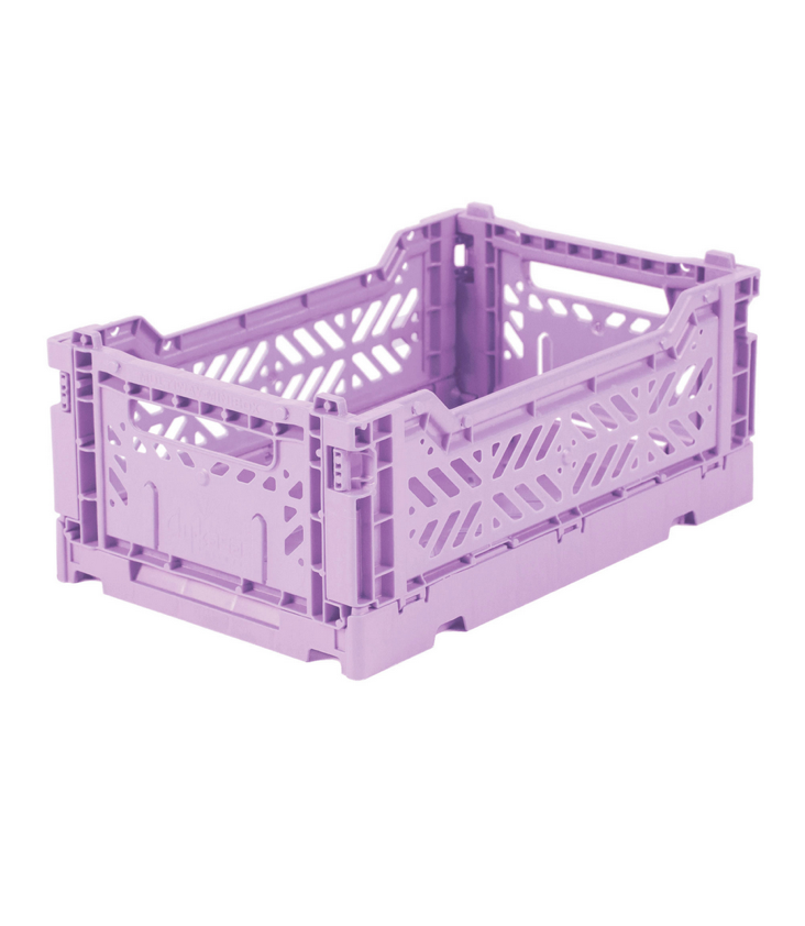 Folding crate small Orchid