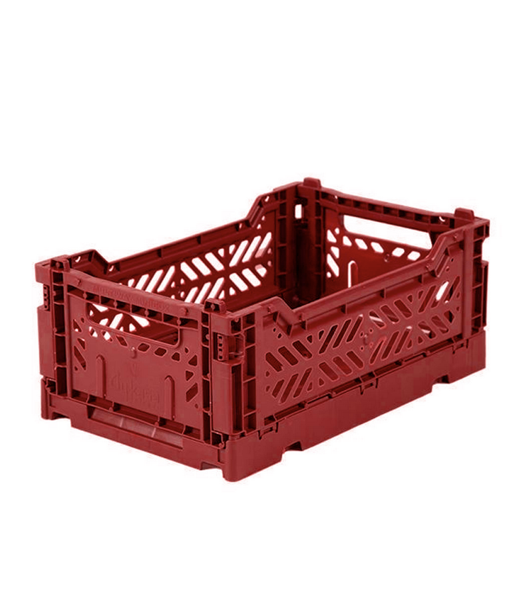 Folding crate small Tile Red