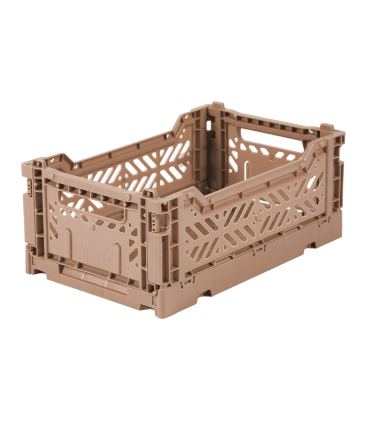 Folding crate small Warm Taupe