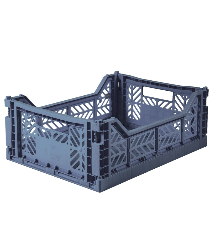 Folding crate medium Cobalt Blue