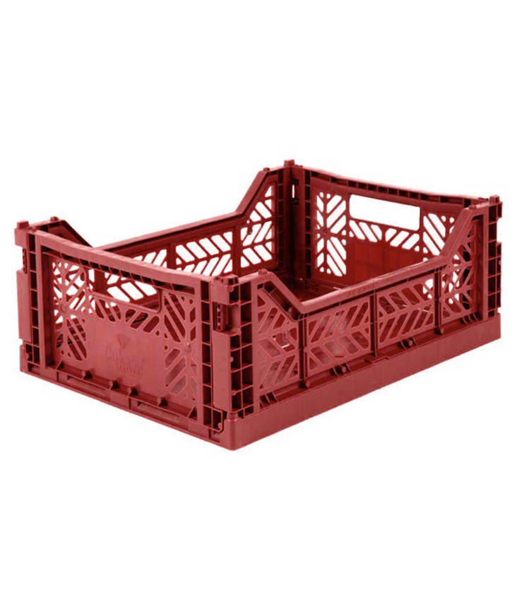 Folding crate medium Tile Red