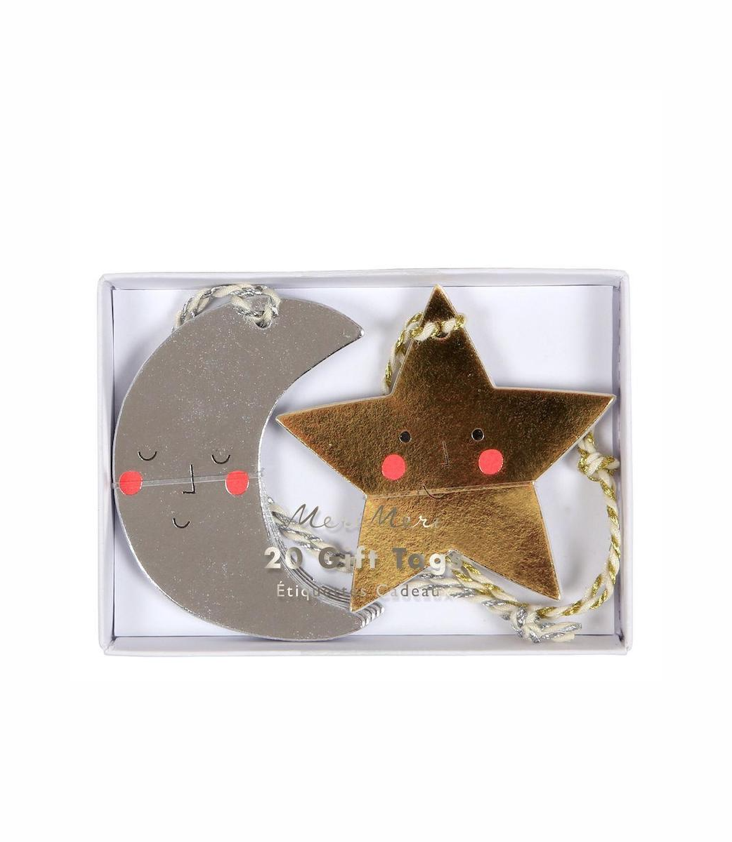 Gift Tags Moon And Stars