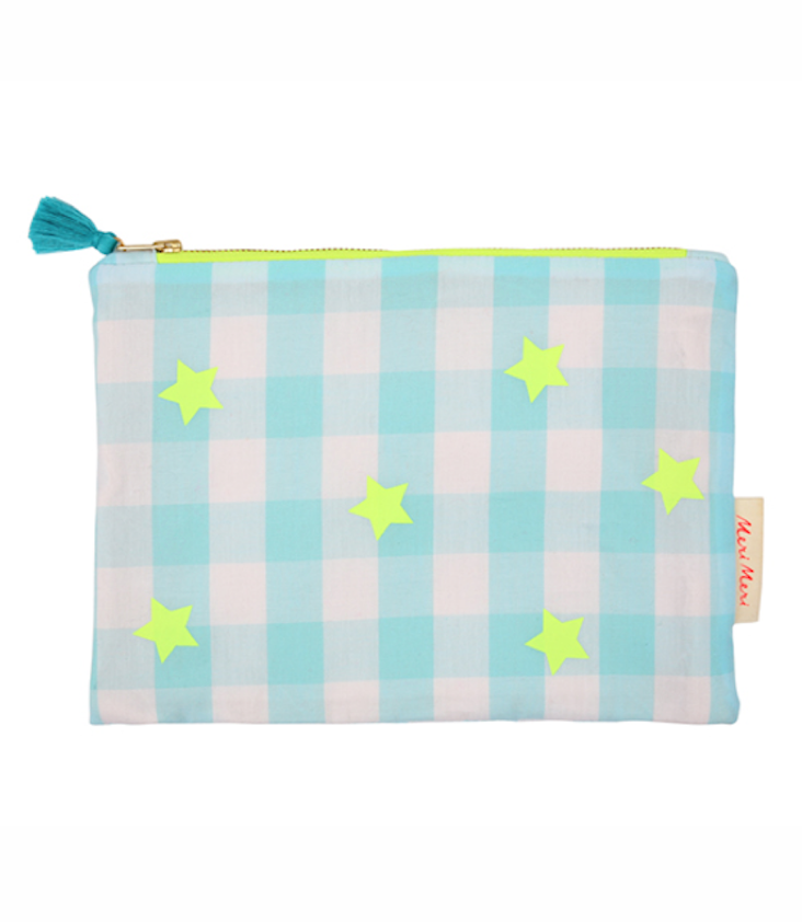 Gingham Clutch Bag