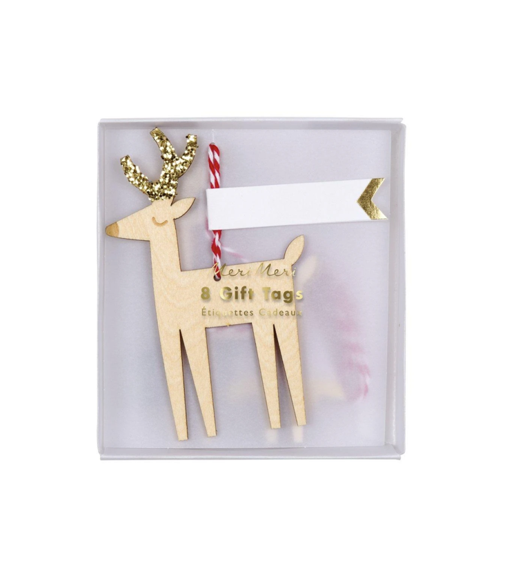 Glitter Reindeer Gift Tag