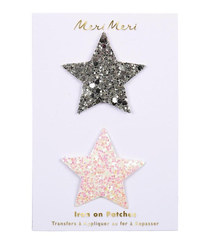 Glitter Stars - Iron on patches