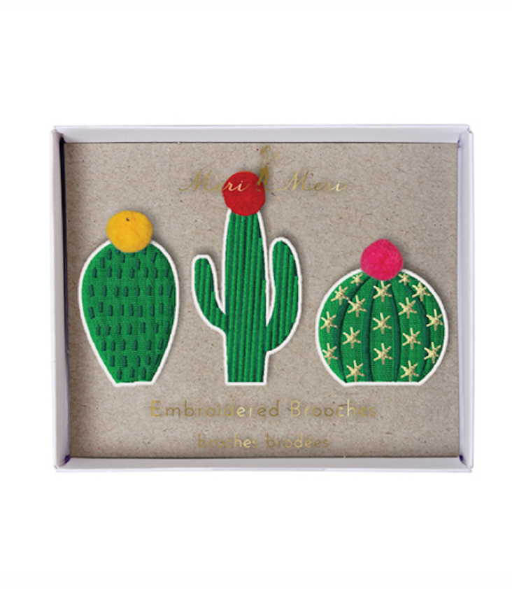 Cactus Brooches