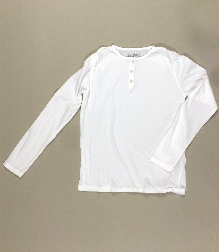 Light Henley Langarm T-Shirt