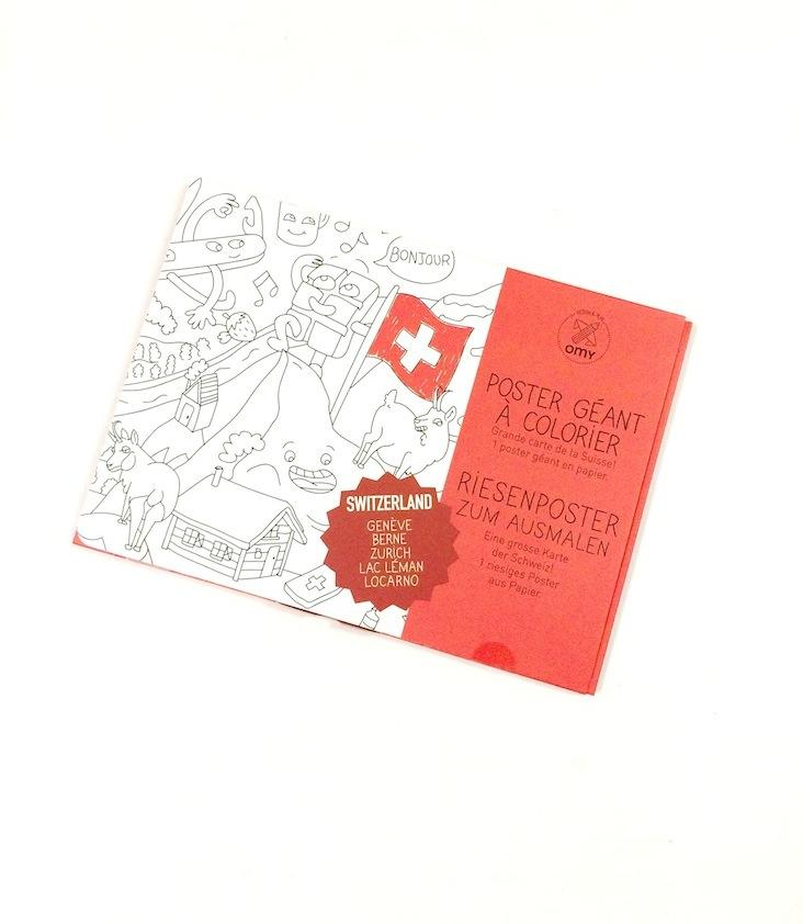 Medium Coloring Poster- Schweiz