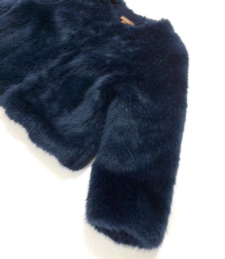 Midnight Faux Fur Jacket - 0