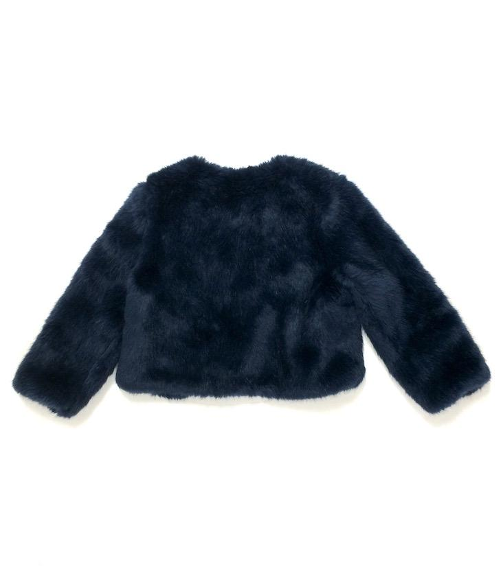 Midnight Faux Fur Jacket - 1