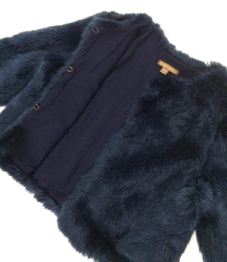 Midnight Faux Fur Jacket - 2