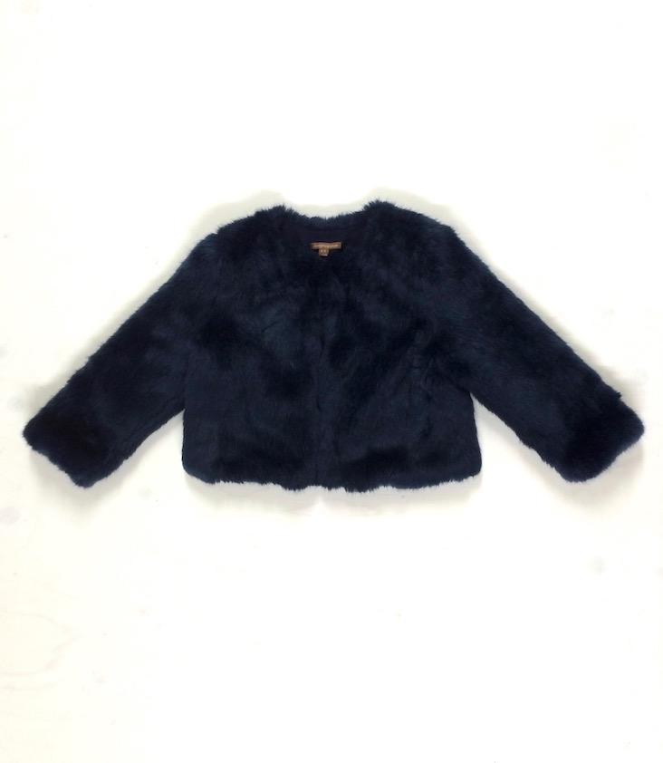 Midnight Faux Fur Jacket