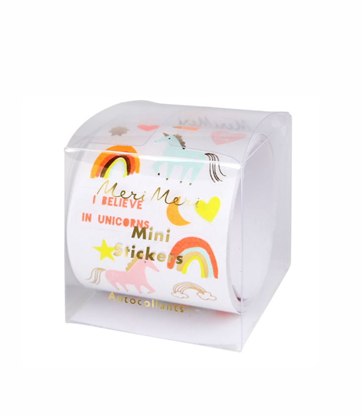 Roll of Mini Stickers Unicorn