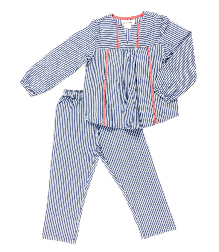 Pyjama Gestreift Set