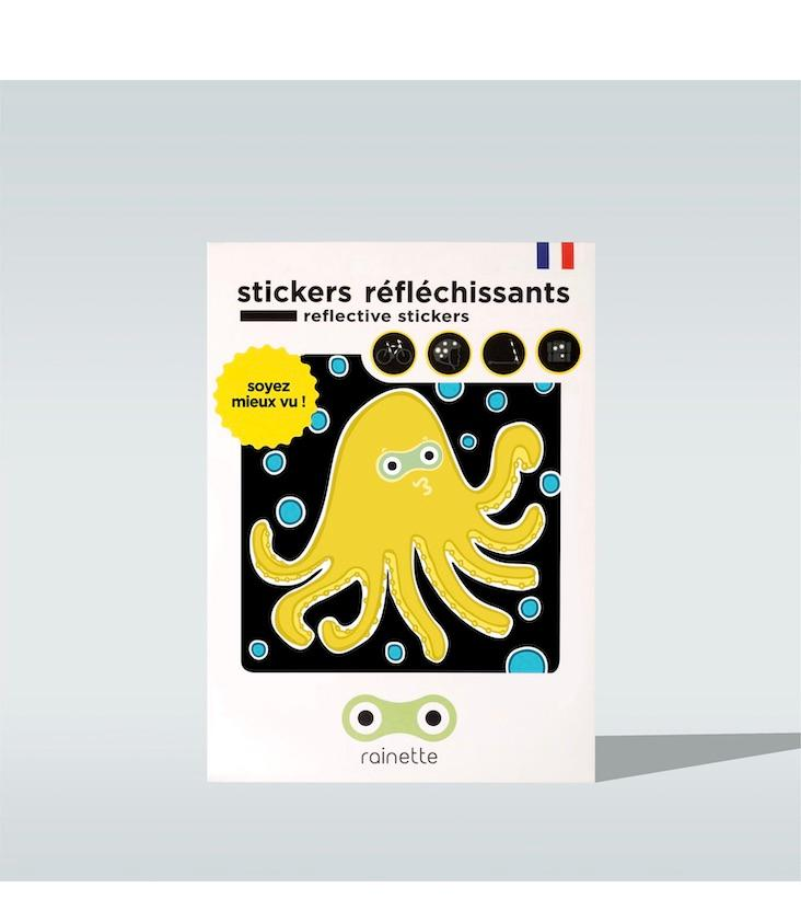 Reflective Stickers Octopus