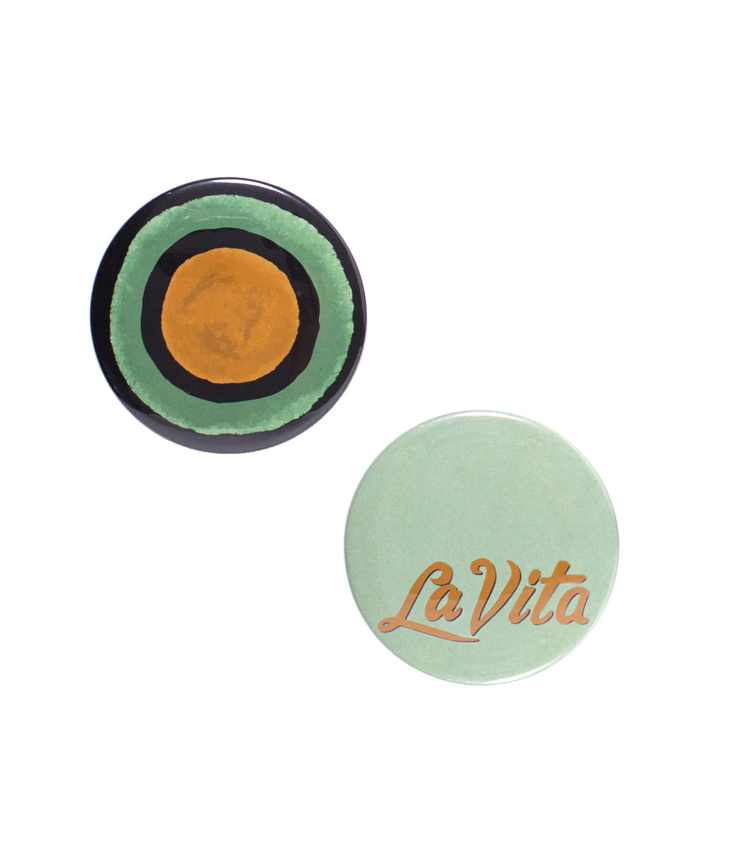 Button Mirror Set of 2