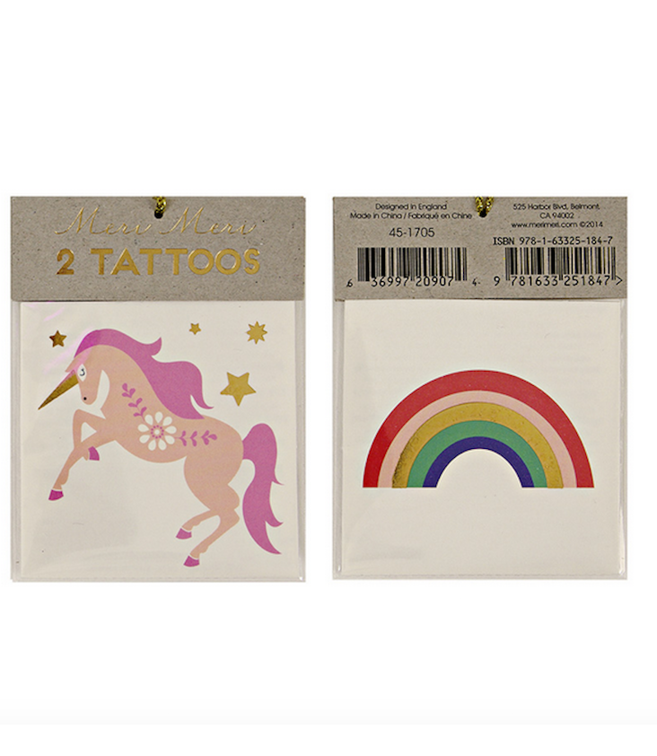 Unicorn & Rainbow Tattoo